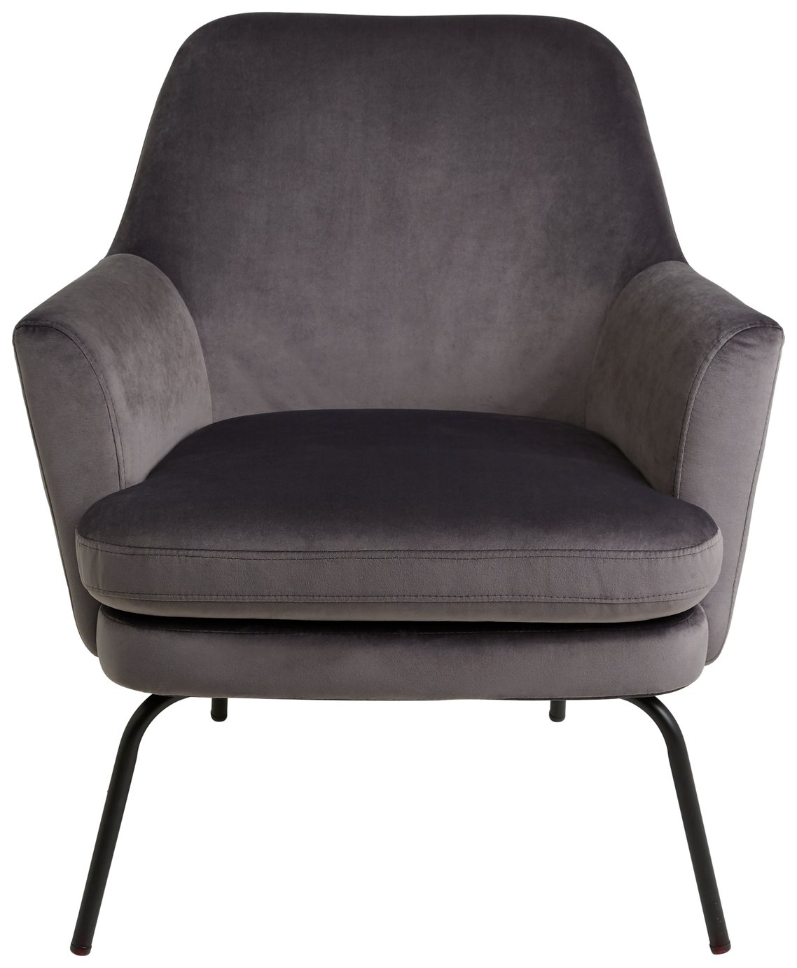 Habitat Celine Velvet Accent Chair - Grey