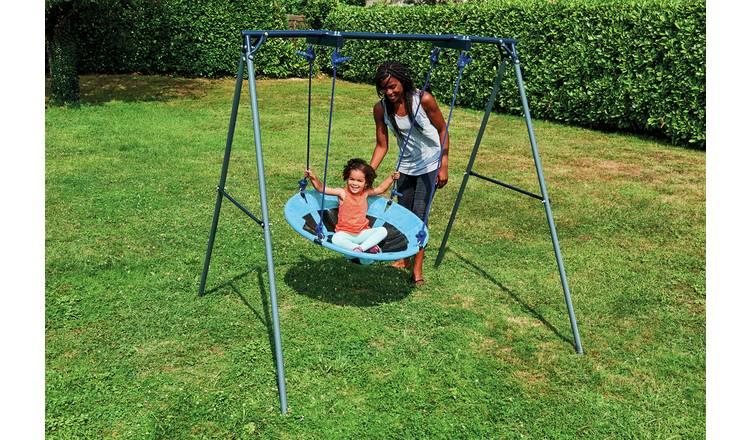 Chad Valley Kids Garden Nest Swing - Blue 1