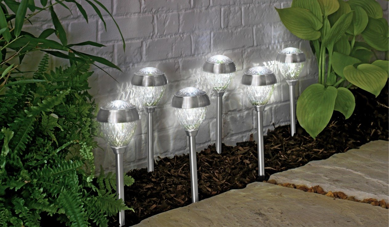 Argos Home Set of 6 Stainless Steel Crown Twin Solar Lights review
