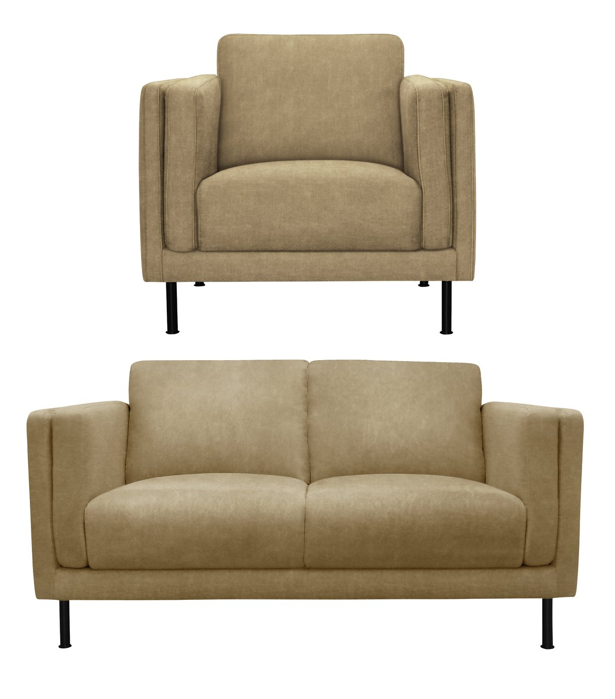 Argos Home Hugo Faux Leather Chair and 2 Seater Sofa review