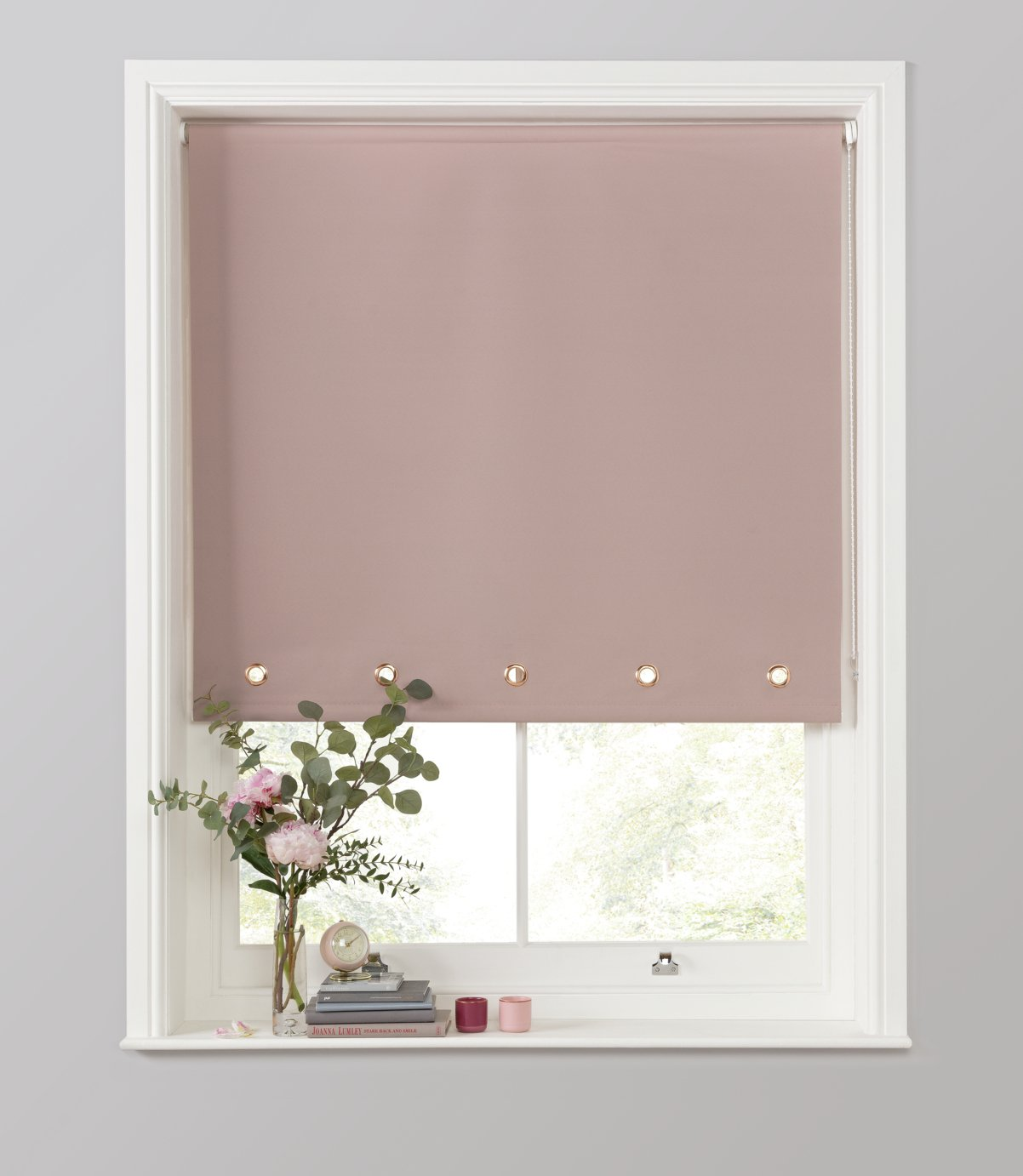 Argos Home Eyelet Daylight Roller Blind - 3ft - Blush
