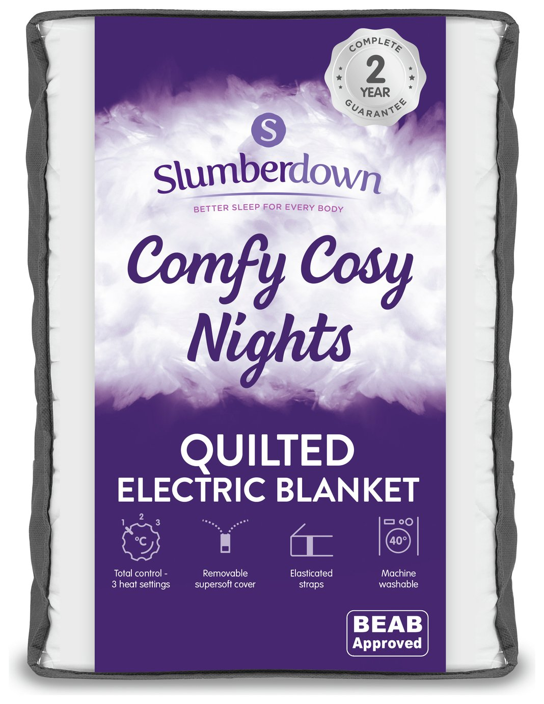 Slumberdown Warm and Cosy Electric Underblanket - Single
