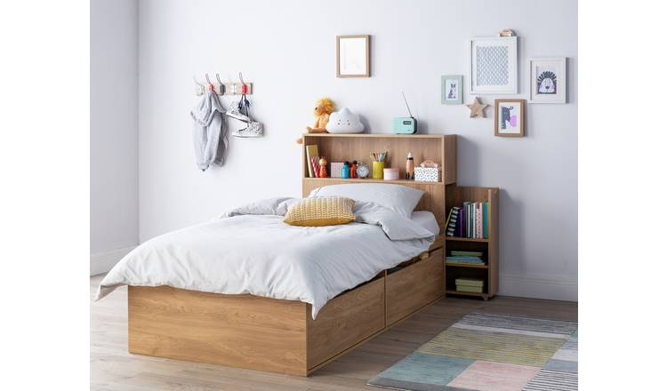 Argos Home Lloyd Oak Effect Cabin Bed, Headboard & Mattress 0