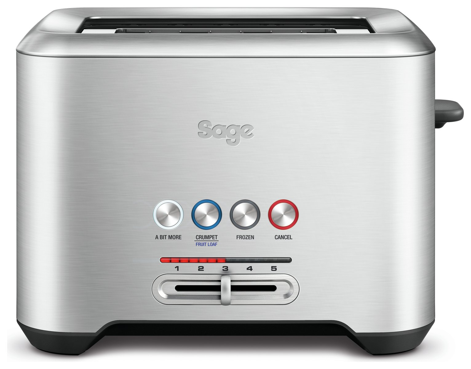 Sage BTA720UK A Bit More 2 Slice Toaster - Stainless Steel
