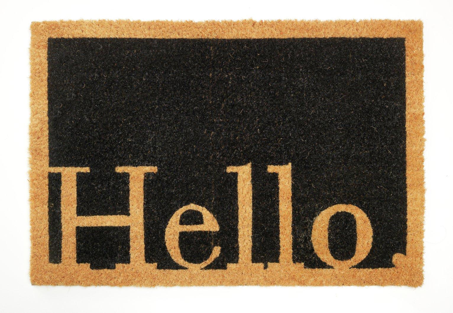 Argos Home Hello Doormat review