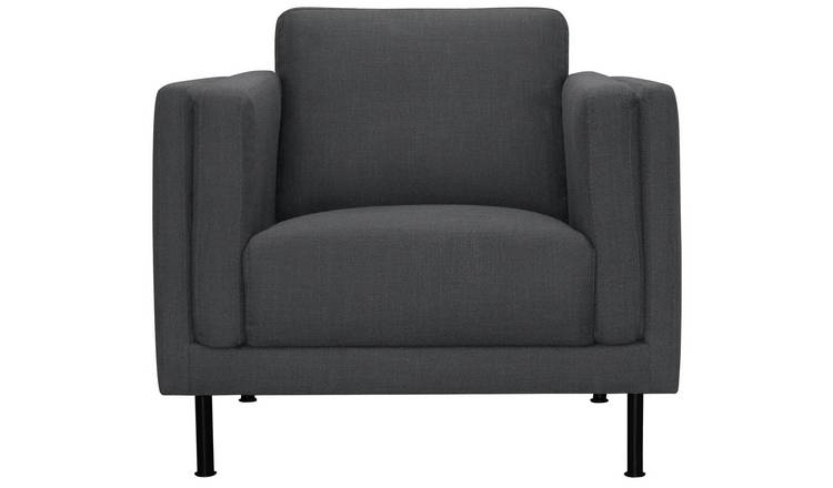 Argos Home Hugo Fabric Armchair - Charcoal