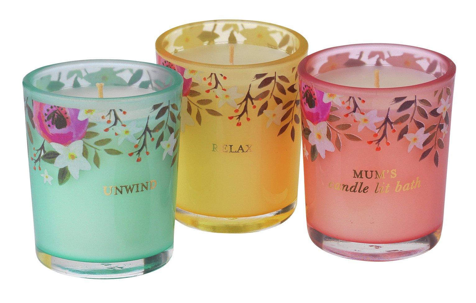 Argos Home Mum's Candle Lit Bath 3 Candles review