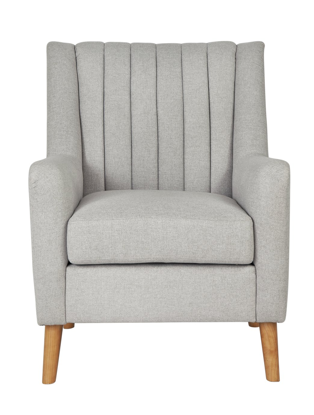 Argos Home Heidi Mid Century Fabric Armchair - Light Grey