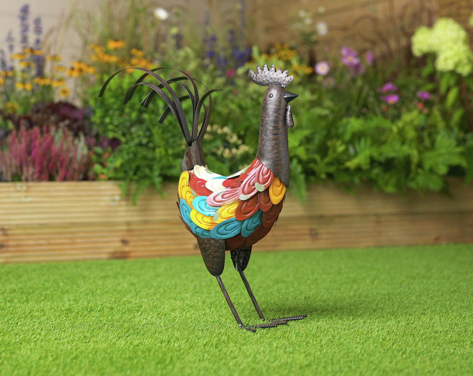 Argos Home Rocky Rooster Metal Garden Ornament