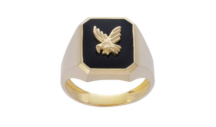 Revere Men's 9ct Gold Plated Eagle Signet Ring - U