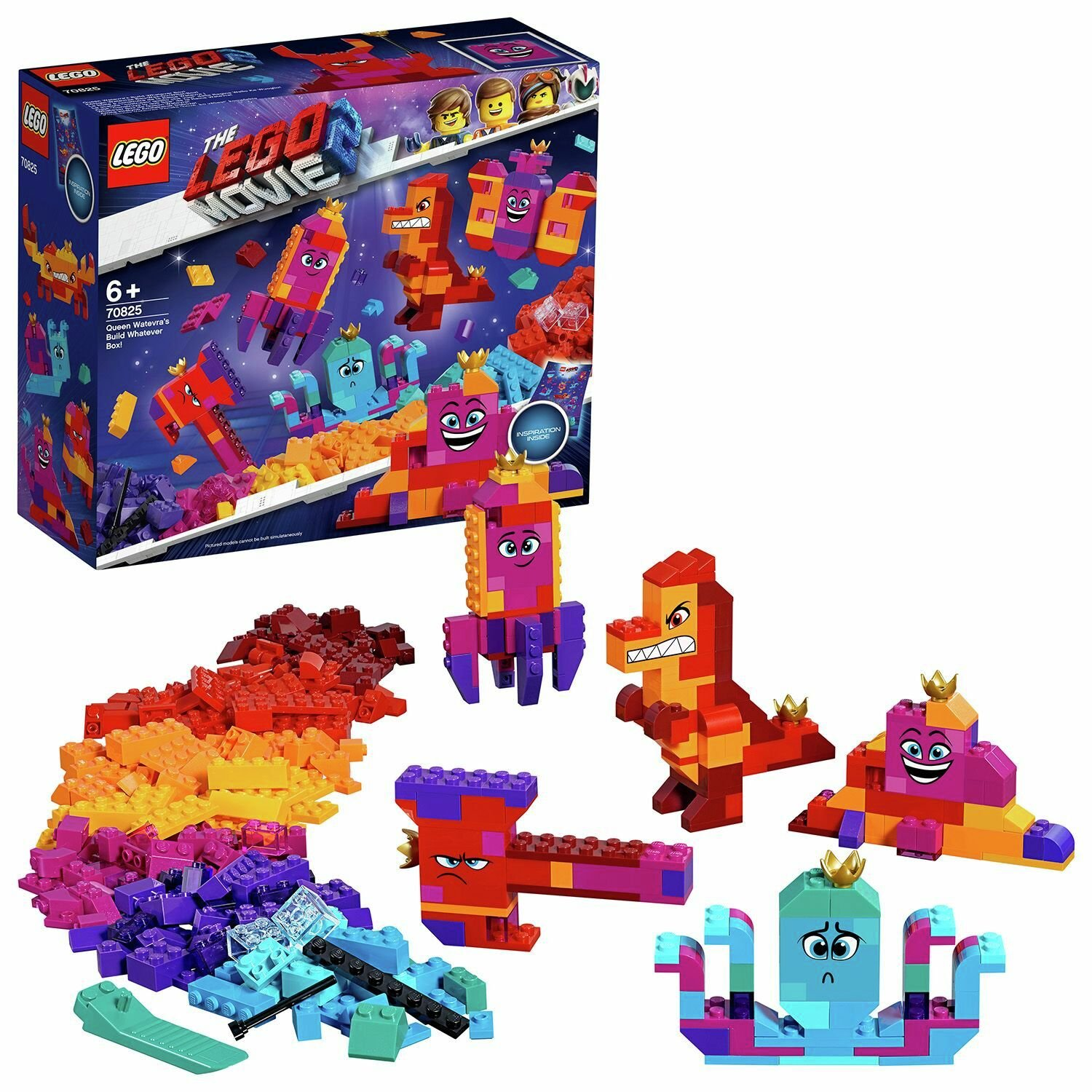 LEGO Movie 2 Queen Watevra's Building Toy Brick Set - 70825