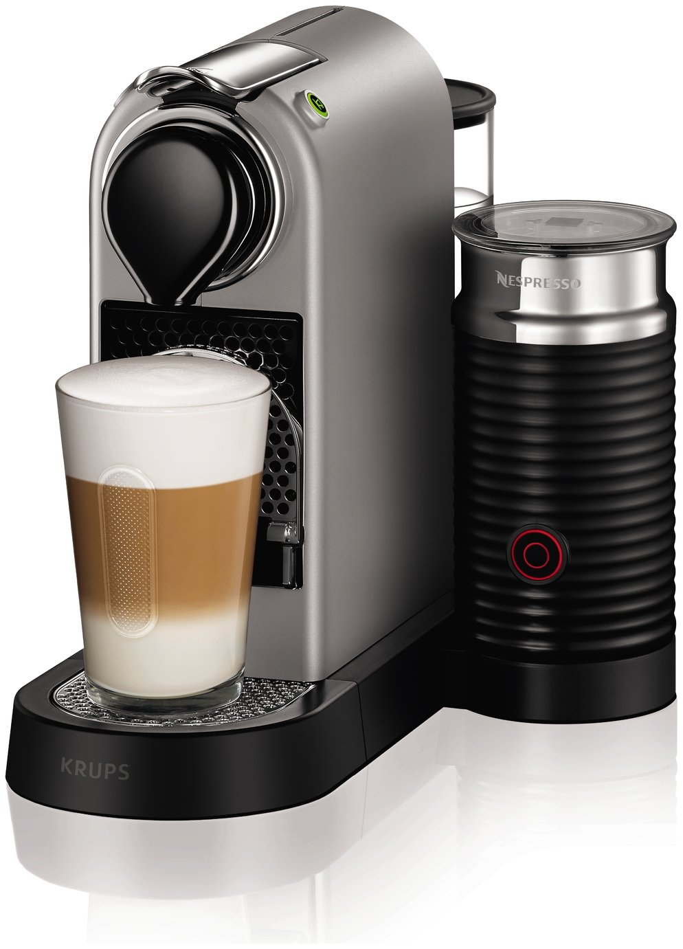 Nespresso by Krups Citiz Pod Coffee Machine Bundle - Silver