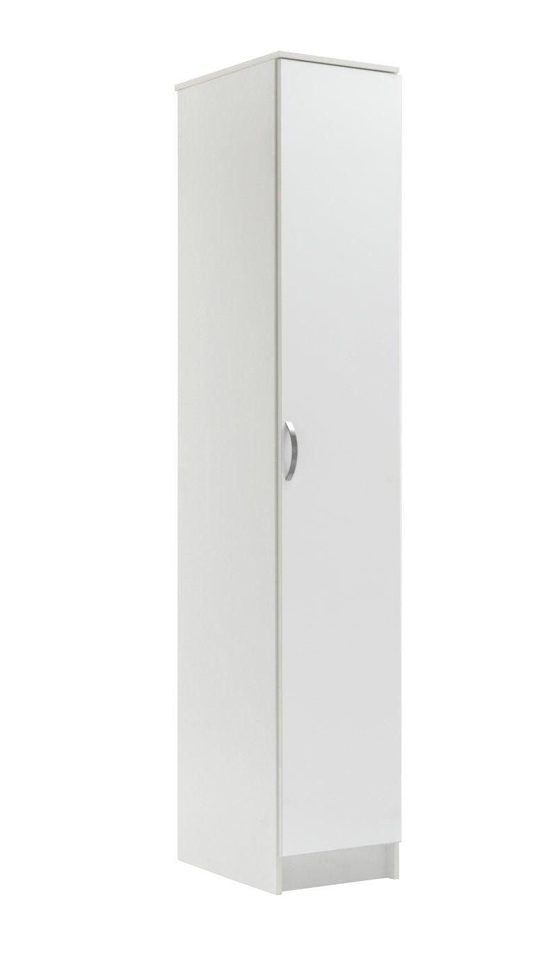 Argos Home Cheval Gloss Single Wardrobe - White