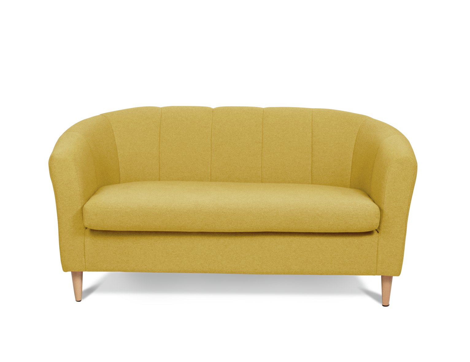 Argos Home Ayres 2 Seater Fabric Tub Sofa - Yellow