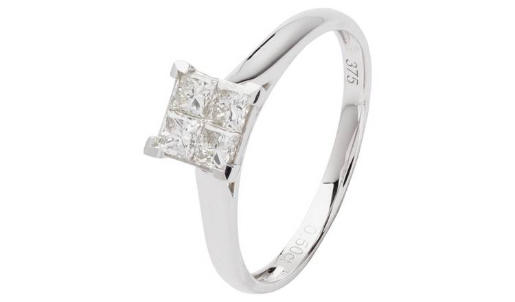 Revere 9ct Gold 0.50ct Diamond Invisible Ring - S