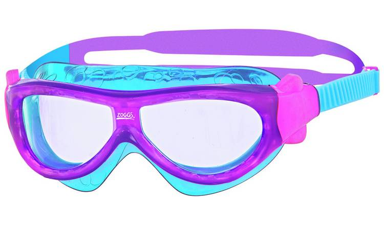 Zoggs Phantom Kid's Mask Swimming Goggles - Purple and Blue