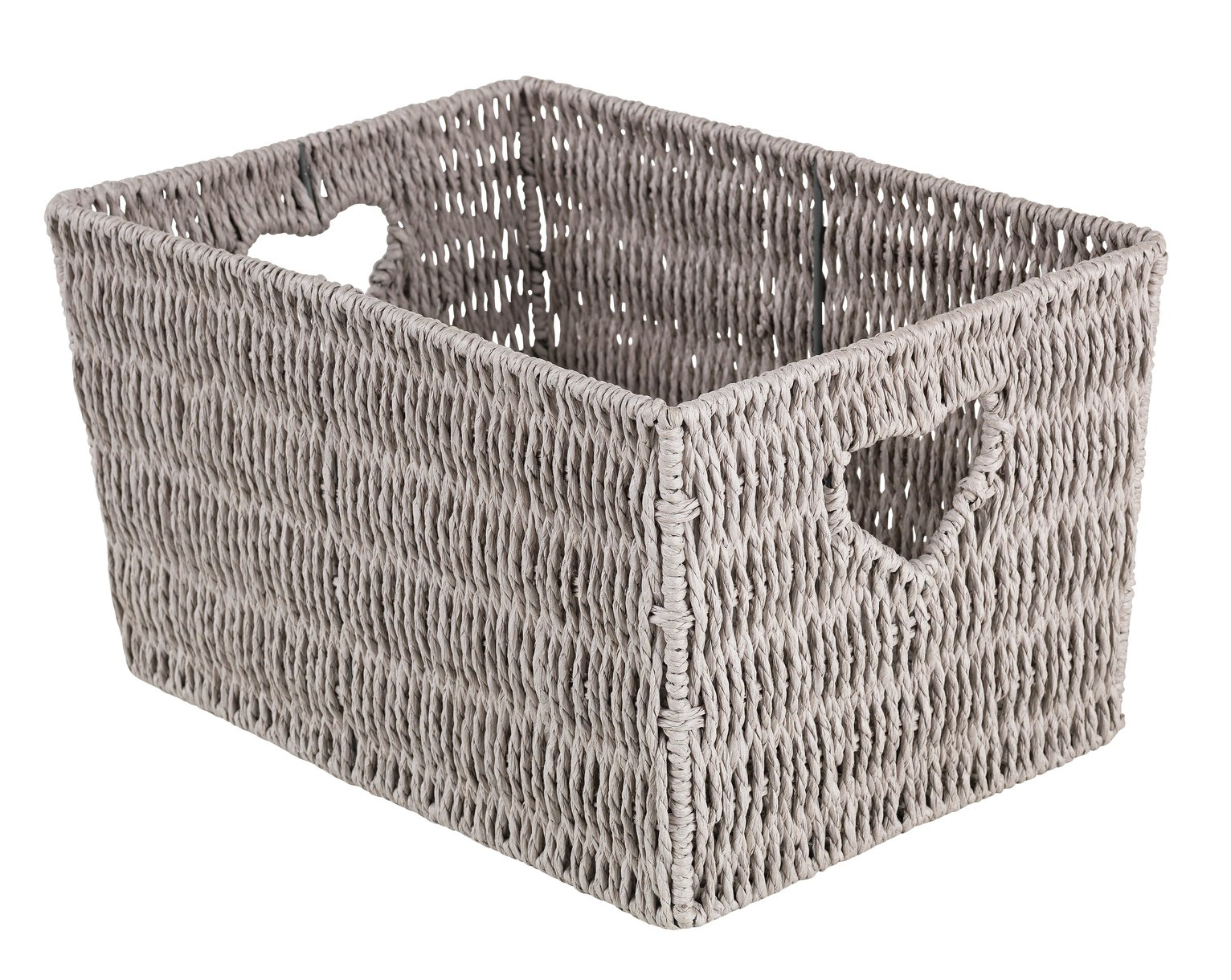 Argos Home Large Woven Heart Storage Basket