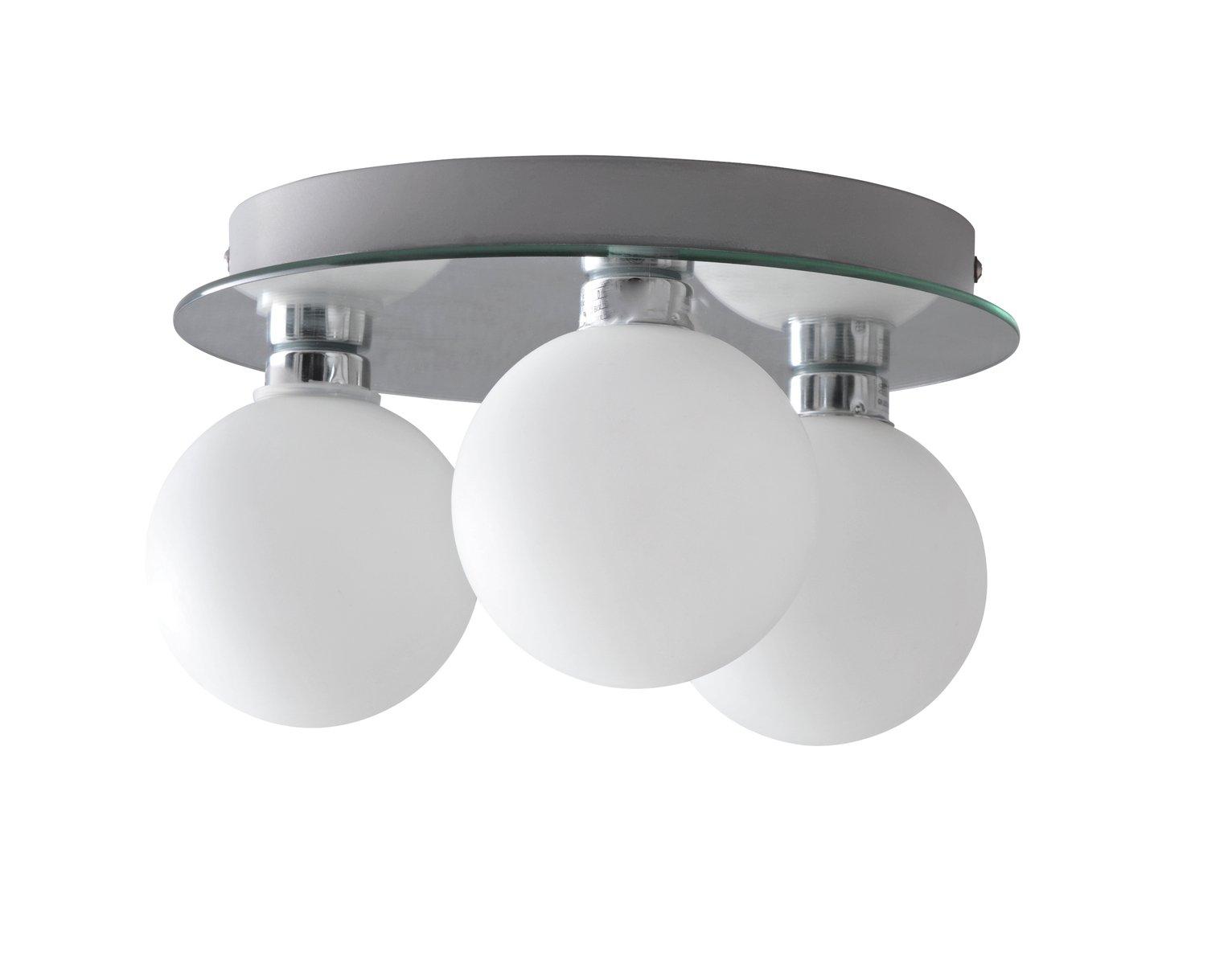 Argos Home Yuko Flush to Ceiling Light - Chrome