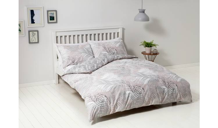 Argos Home Metallic Palm Print Bedding Set - Double