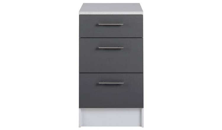 Argos Home Athina 3 Piece Fitted Kitchen Package - Grey
