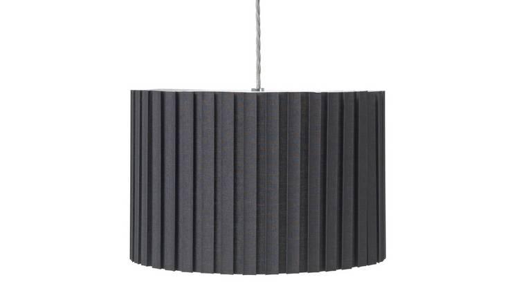 Buy Argos Home Boxpleat Shade Black | Lamp shades | Argos