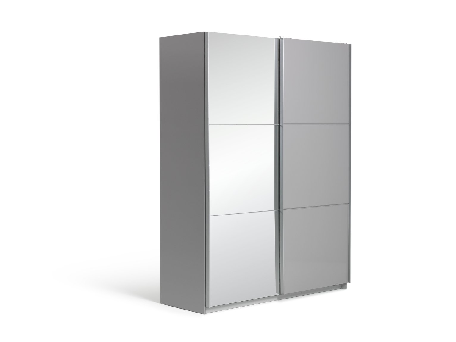 Argos Home Holsted Gloss Medium 1 Mirror Sliding Wardrobe