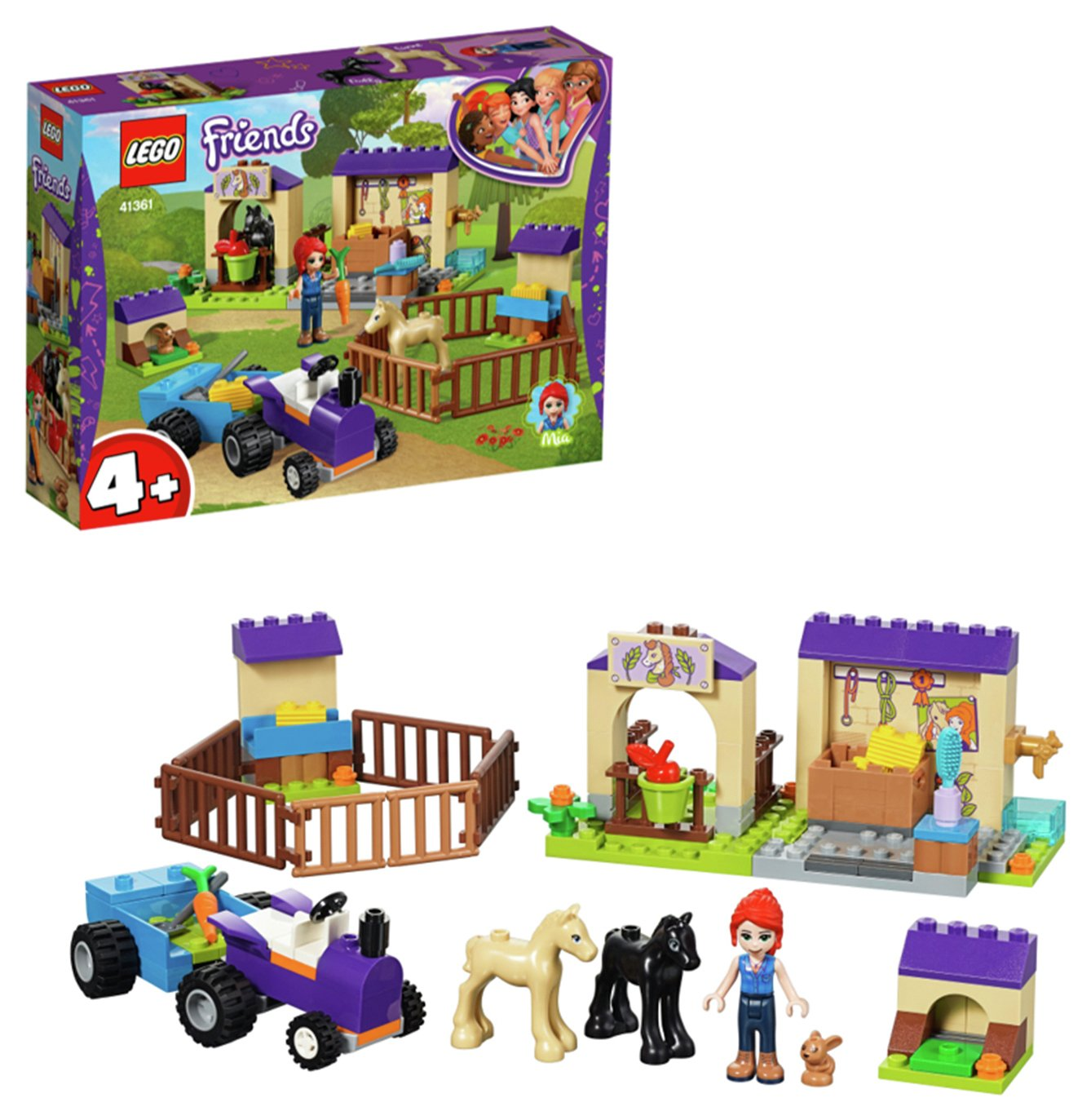 LEGO Friends Mia's Foal Stable Playset - 41361