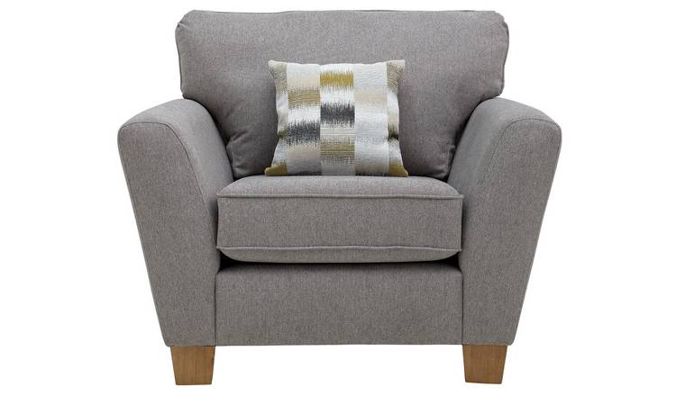 Argos Home Auria Fabric Armchair - Grey