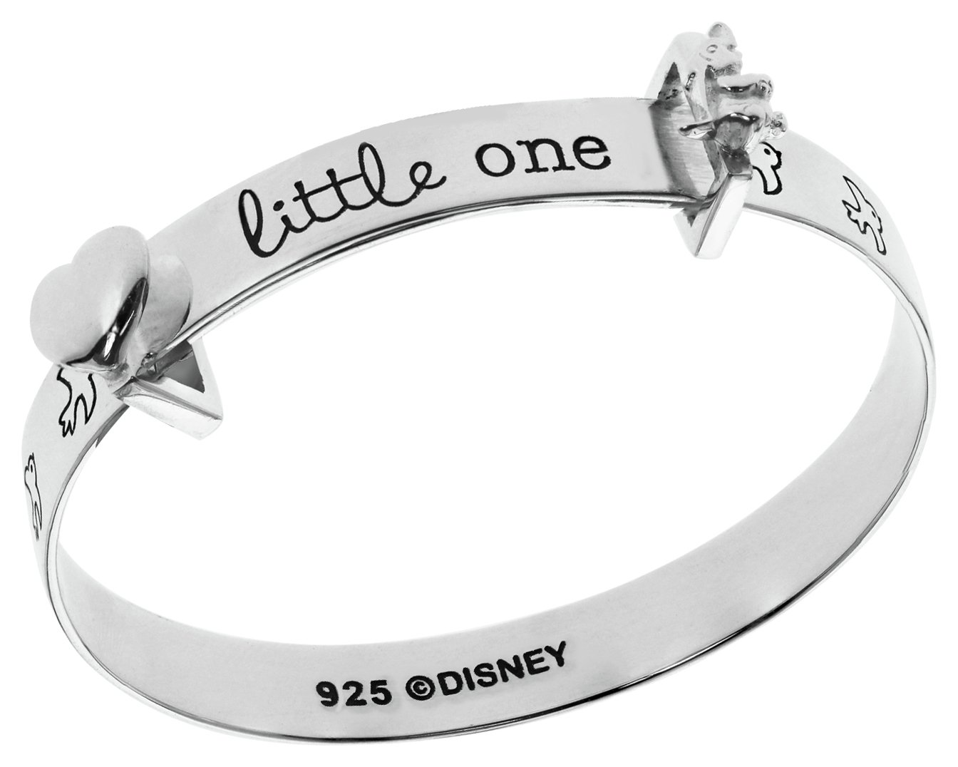 Disney Sterling Silver Dumbo Little One Bangle - 0-18 months