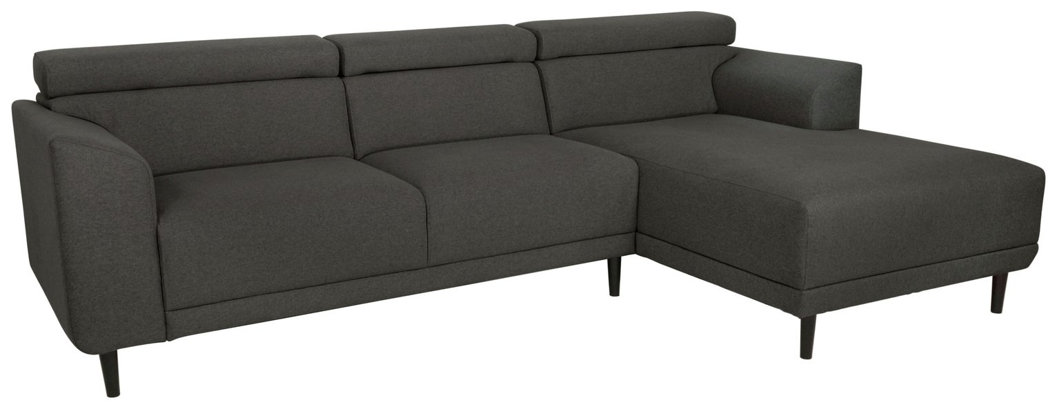 Argos Home Jonas Right Corner Fabric Sofa - Charcoal