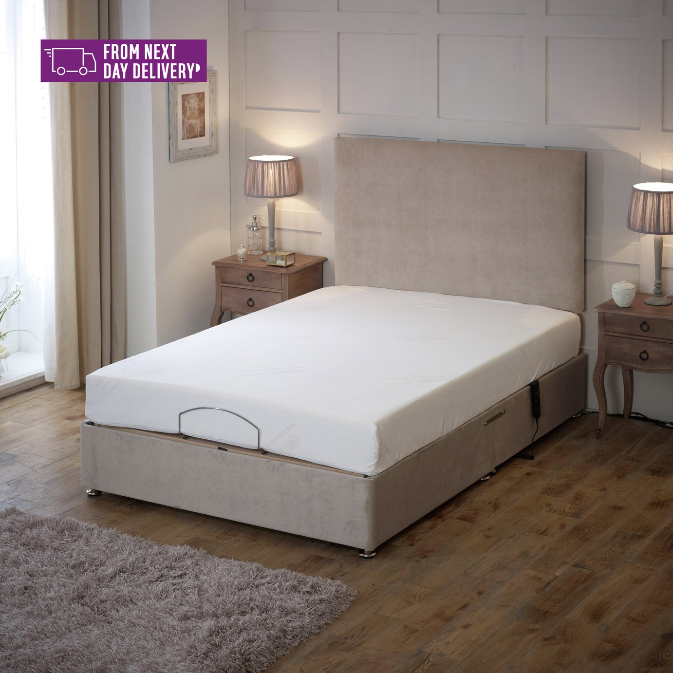 Imperial Double Adjustable Bed with a Memory Foam Mattress