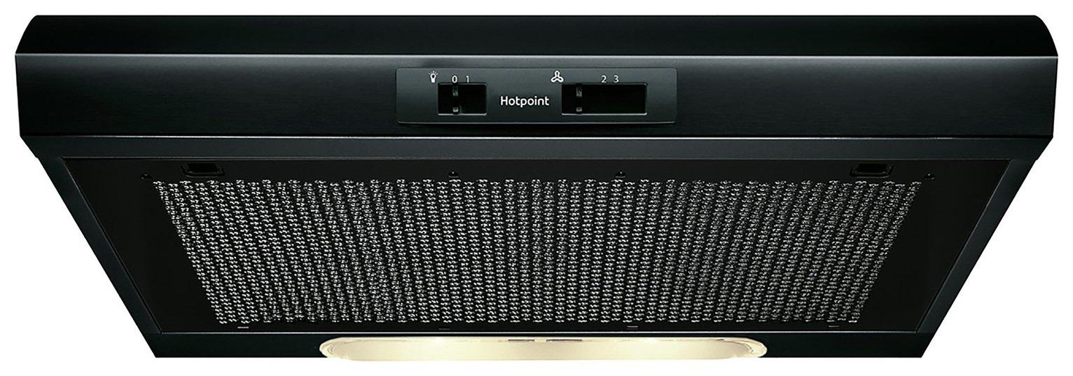 Hotpoint PSLMO65FLSK 59.9cm Cooker Hood - Black