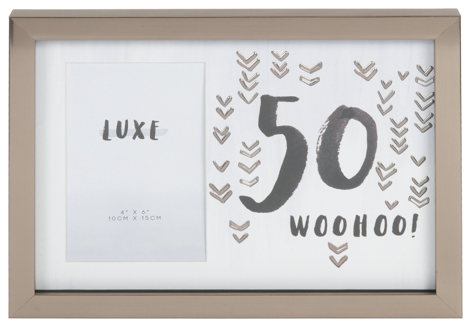 Hotchpotch Luxe 50th Birthday Photo Frame - Grey