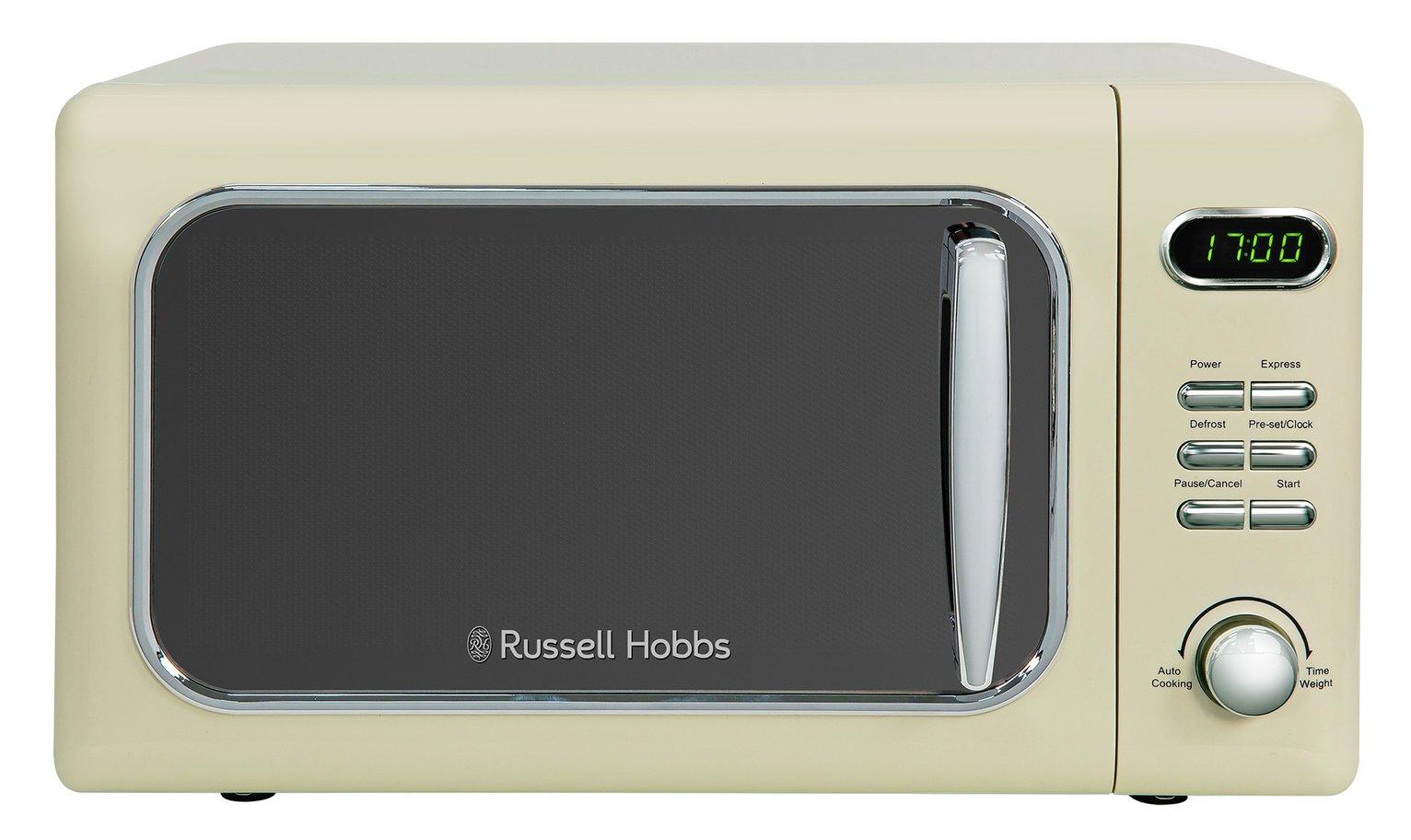 Russell Hobbs 700W Standard Microwave RHMD718C - Cream