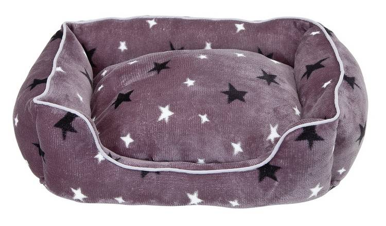 Stars Plush Square Bed - Small