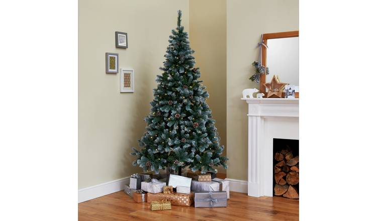 Christmas Tree Pictures.Buy Argos Home 7ft Oscar Pine Cone Christmas Tree Green Artificial Christmas Trees Argos