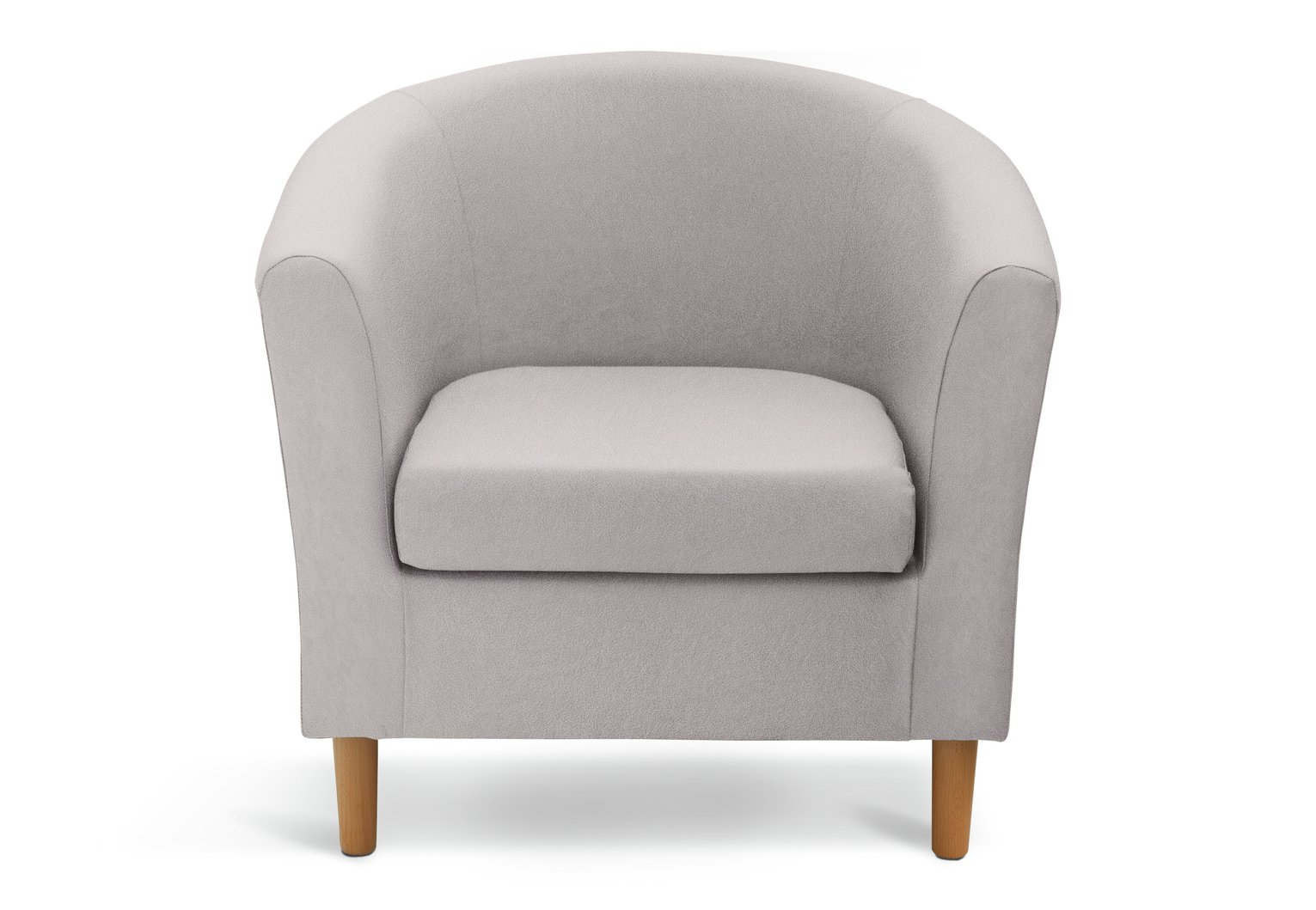 Argos Home Fabric Tub Chair - Light Grey