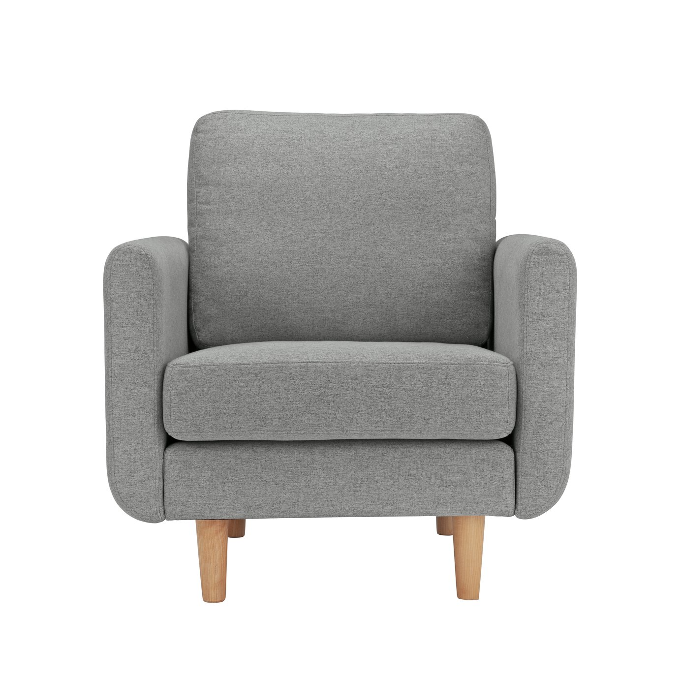 Argos Home Remi Fabric Armchair in a Box - Natural