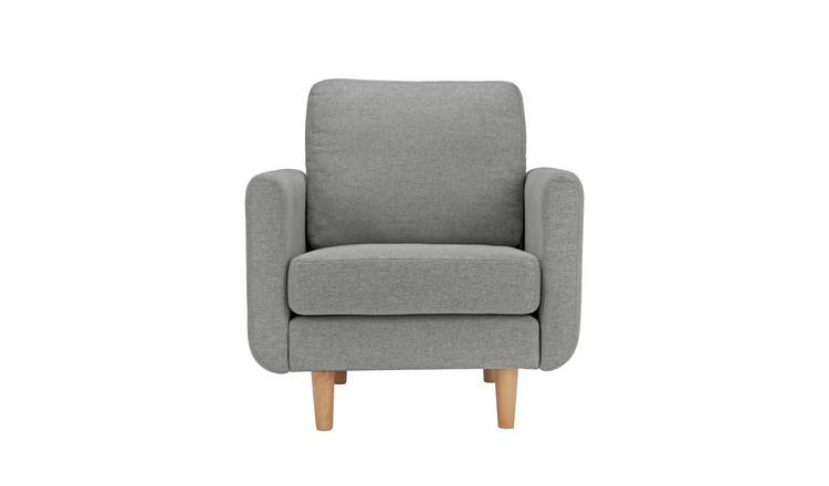 Habitat Remi Fabric Armchair in a Box - Light Grey
