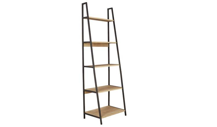 online store d50d5 86895 Buy Argos Home Nomad 5 Shelf Leaning Unit - Light Oak Effect | Bathroom  shelves and storage units | Argos