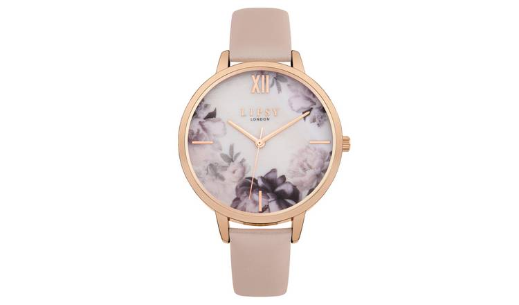 Lipsy Ladies Pink Faux Leather Strap Watch