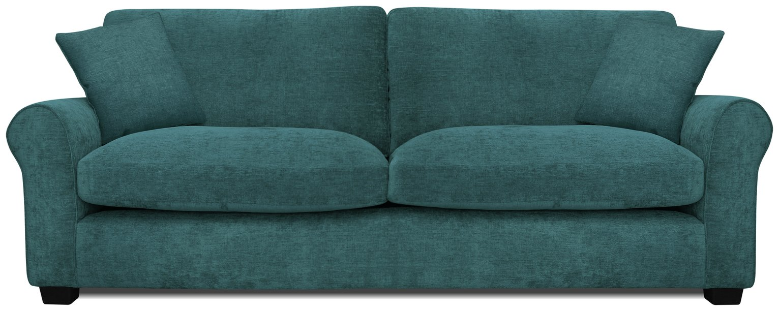 Argos Home Tammy 4 Seater Fabric Sofa - Teal