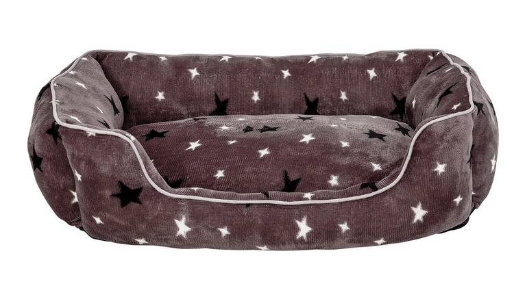 Stars Plush Square Bed - Large
