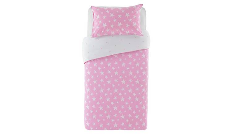 Argos Home Pink Star Bedding Set - Toddler
