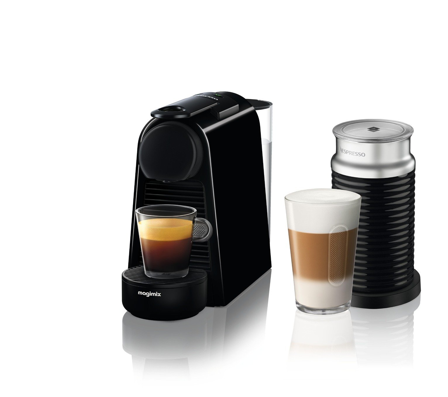 Nespresso by Magimix Essenza Pod Coffee Machine Bundle - Blk