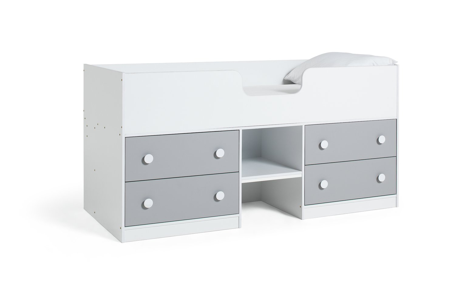 Argos Home Jackson White & Grey Shorty Cabin Bed Frame