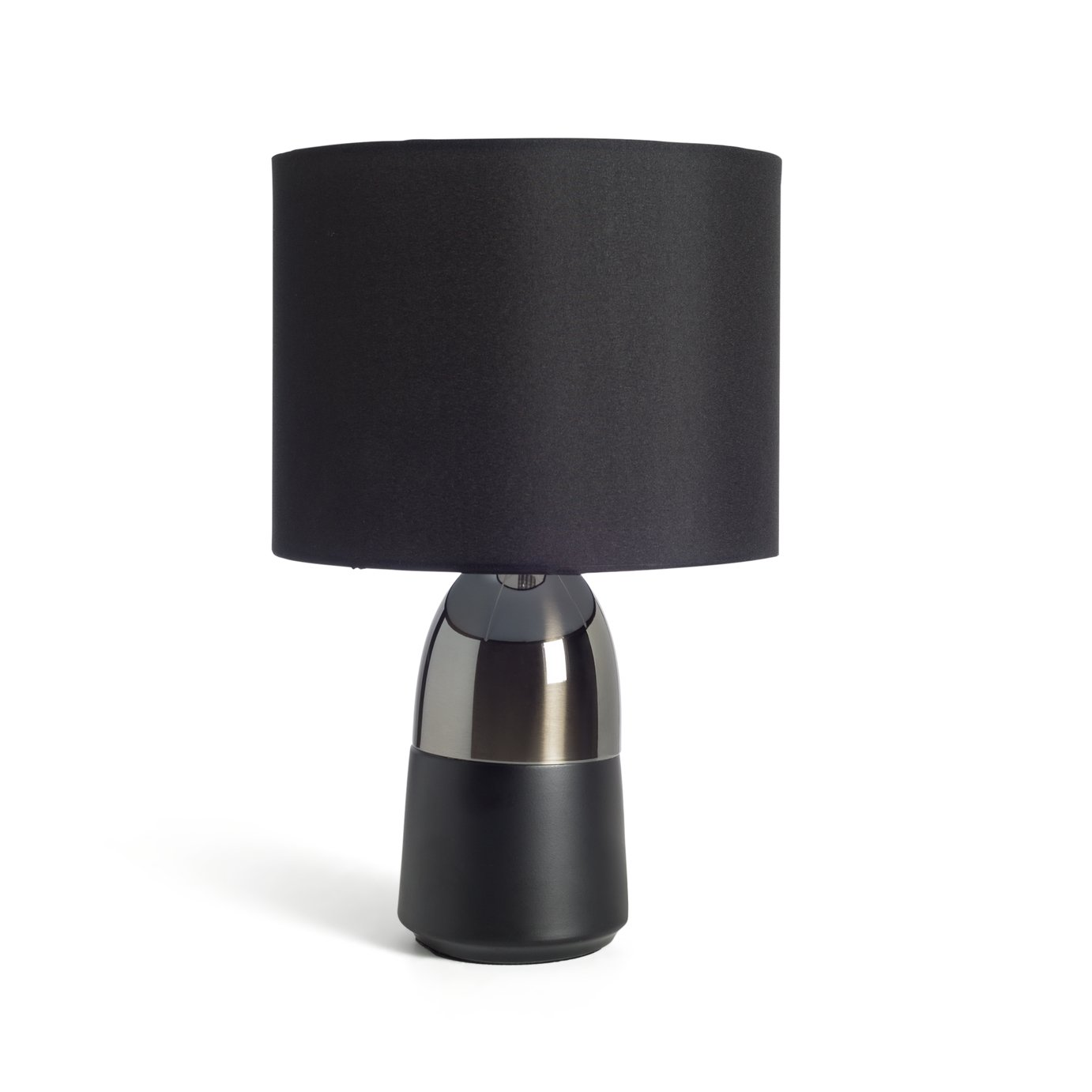 Argos Home Duno Table Lamp - Pewter & Black