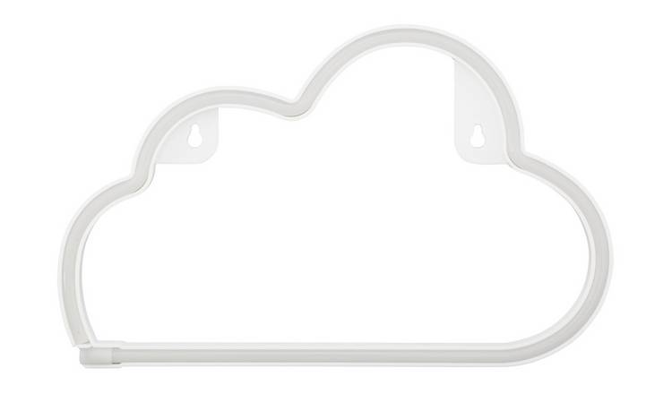Argos Home Baby Cloud Neon Light - White