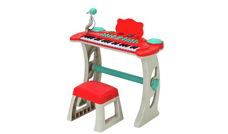 Chad Valley Keyboard Stand and Stool - Red