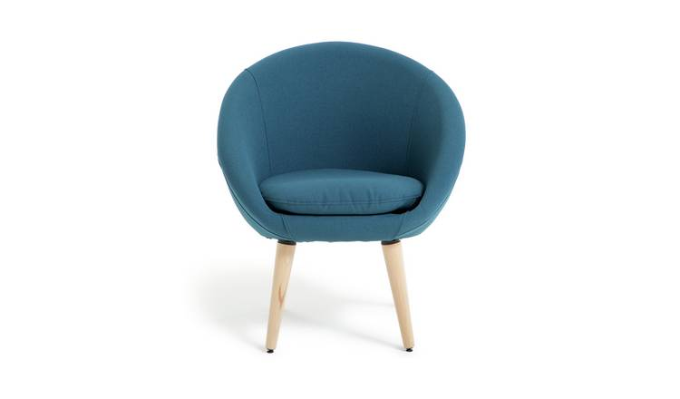 Habitat Fabric Pod Chair - Navy
